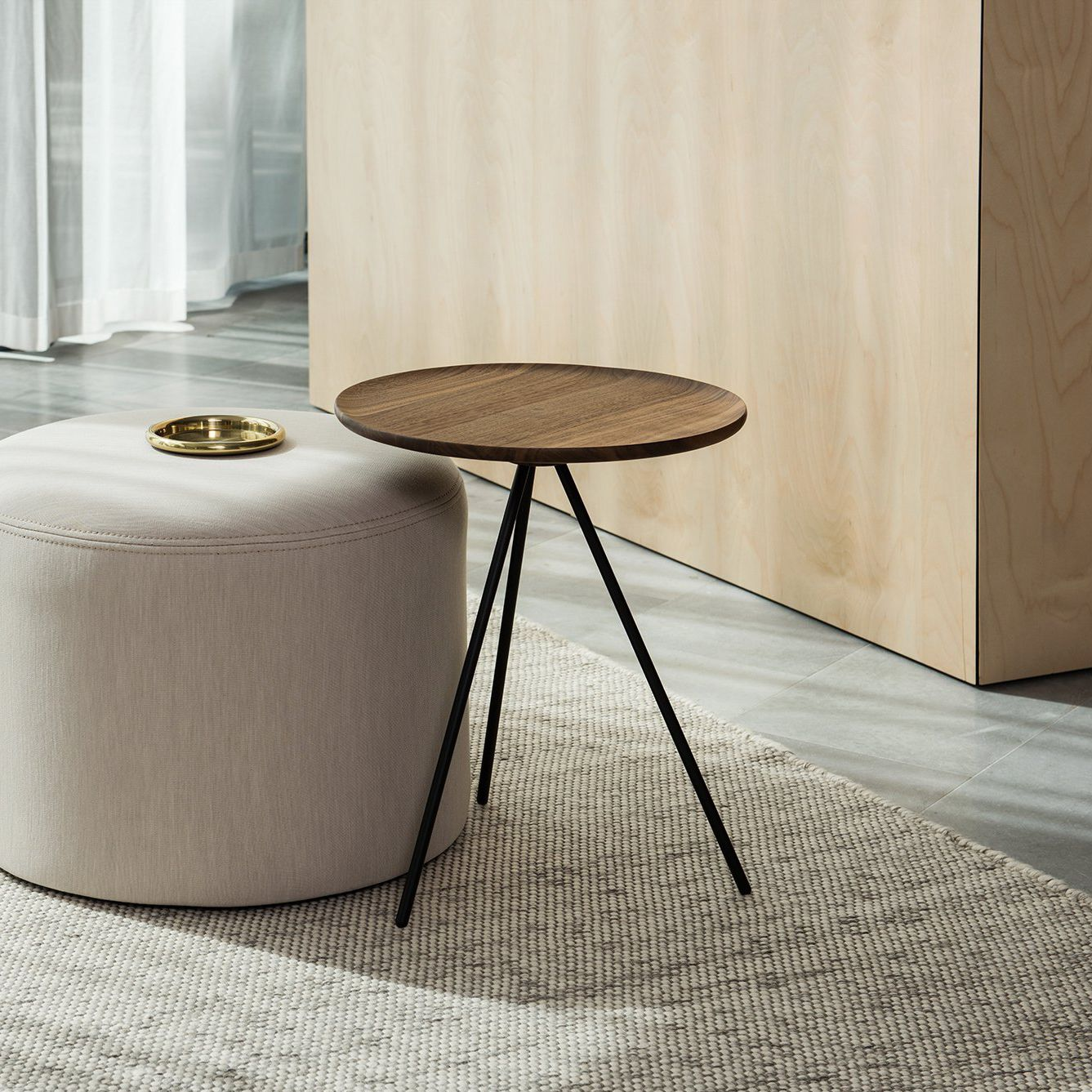 Attrayant Contemporary Side Table / Ash / Powder Coated Steel / Round   KEY By  GamFratesi