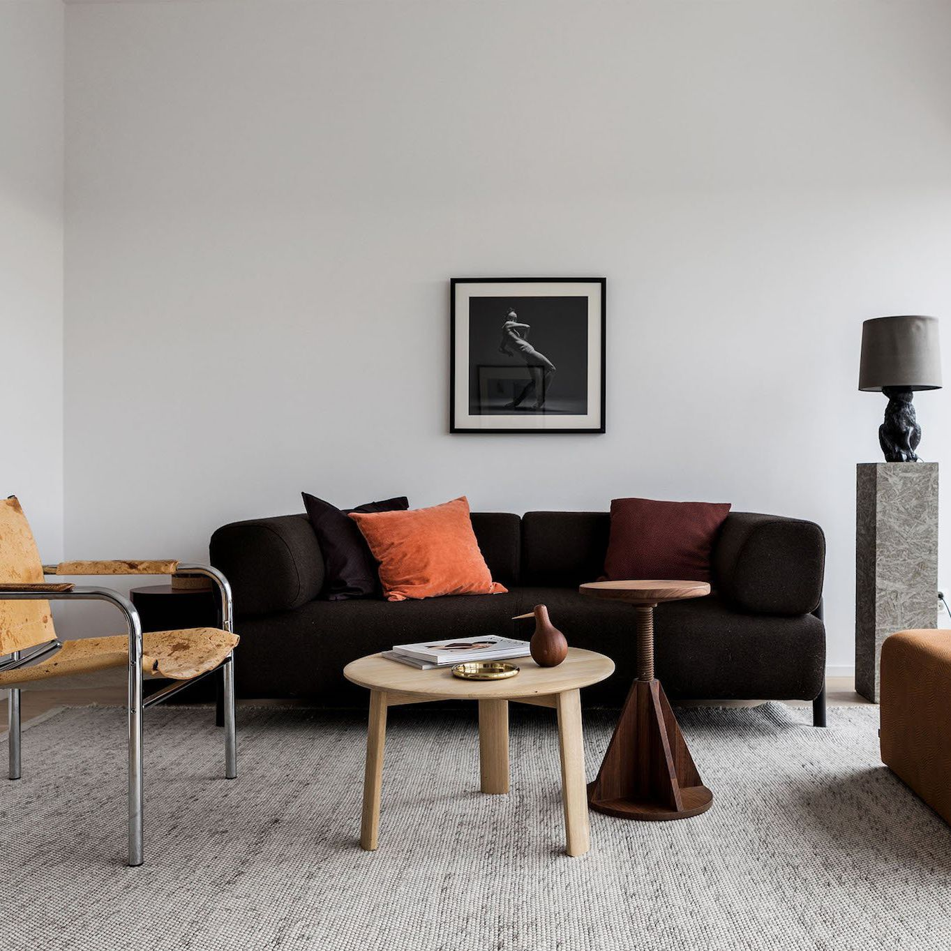 Merveilleux Contemporary Coffee Table / Oak / Round   ALLE By Staffan Holm
