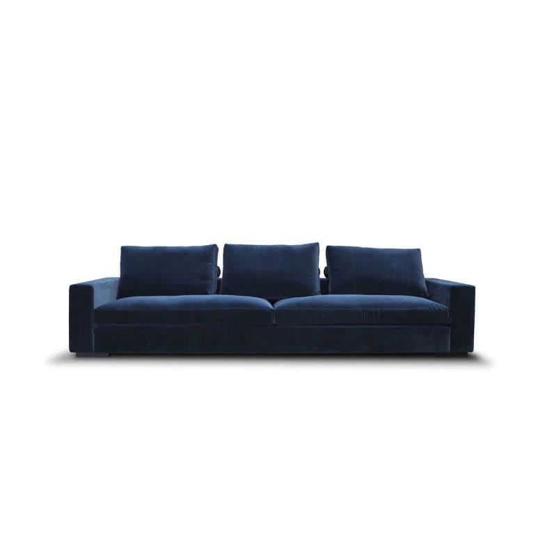 contemporary sofa / fabric / leather / 3-seater - HAMPTON