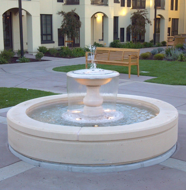 Garden Fountain / Glass Fiber Reinforced Concrete / Contemporary   SEATTLE