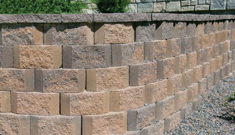 Decorative concrete block / for garden enclosures / for retaining ...