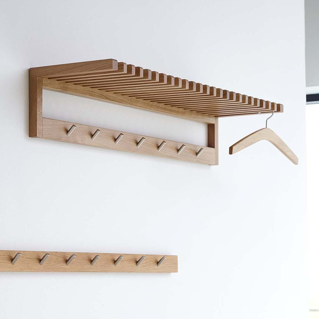 Wall Mounted Coat Rack Contemporary Oak 1008 By Durr Aps