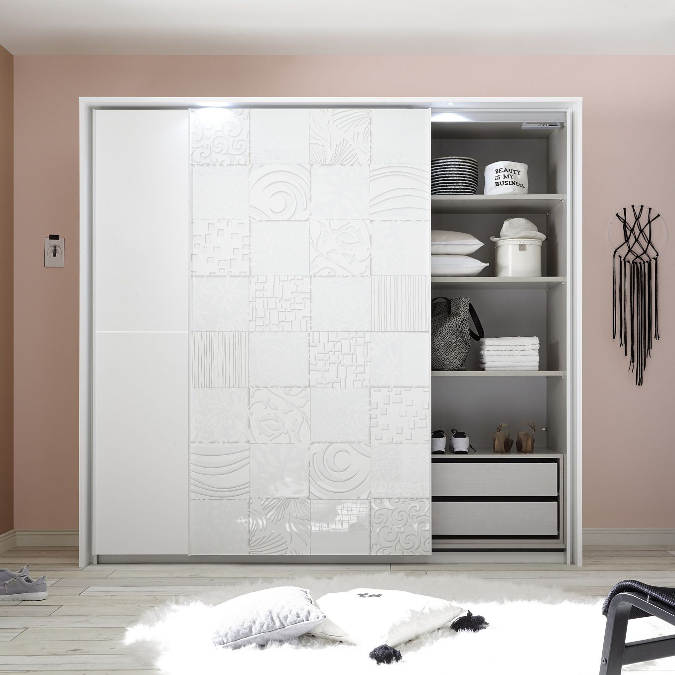 Contemporary Wardrobe Oak Sliding Door Xaos Lc Spa