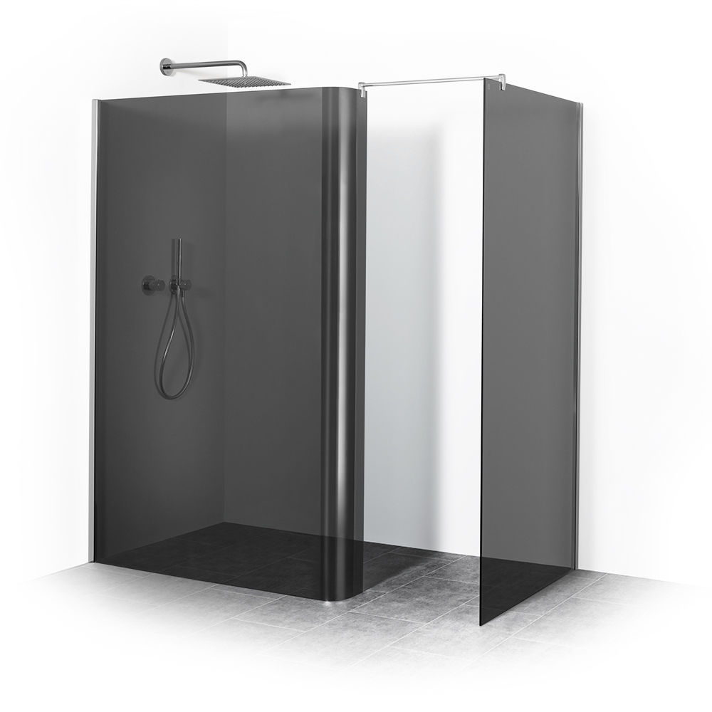 Elegant Palme Duschabtrennungen Referenz Von Walk-in Shower Cubicle / Glass / Tempered