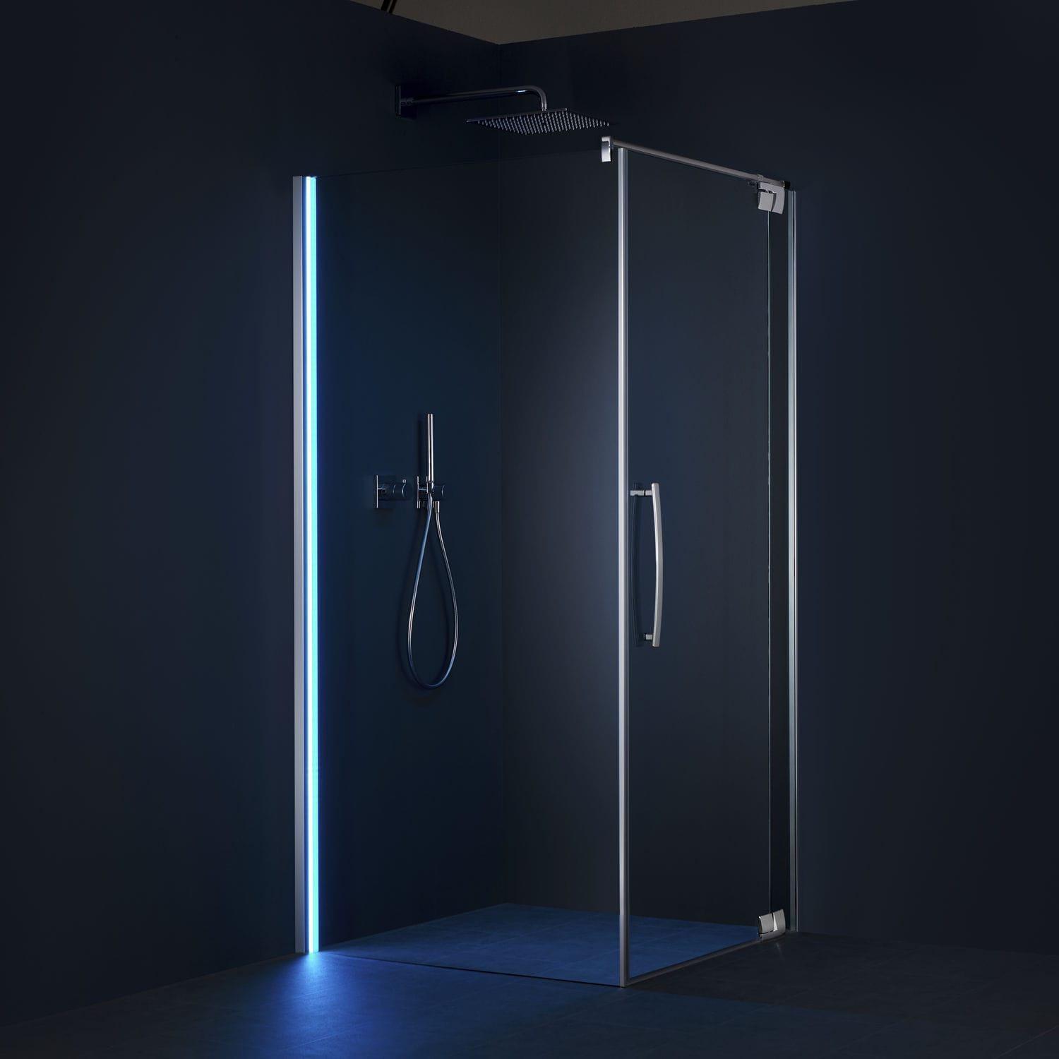 Eitelkeit Palme Duschabtrennungen Dekoration Von Glass Shower Cubicle / With Pivot Door