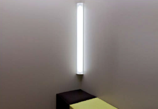 Industrial style wall light steel lacquered steel fluorescent