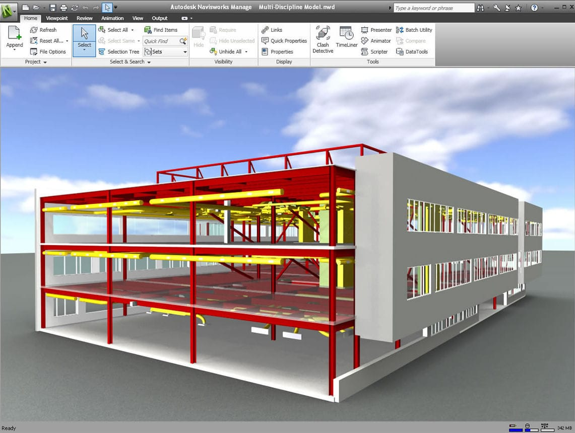 project simulation software architecture for steel structures 3d navisworks
