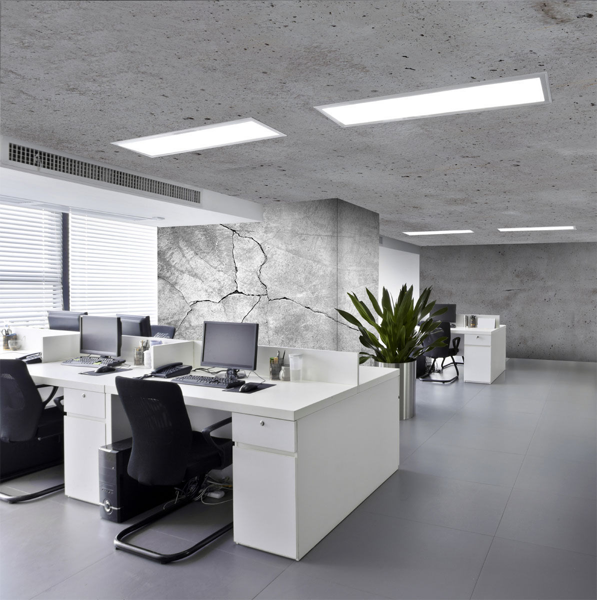 Canvas Stretch Ceiling / Acoustic / Decorative / Water Repellent   EFFET  BETON