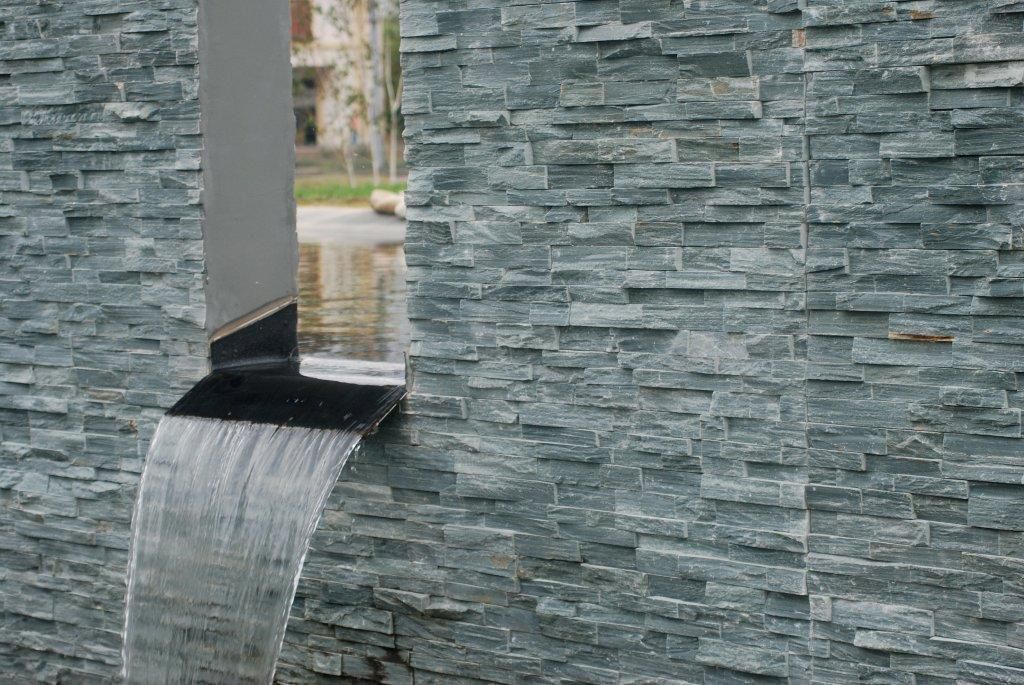 Indoor tile / outdoor / floor / slate - EVEREST GREEN STONESKIN ...