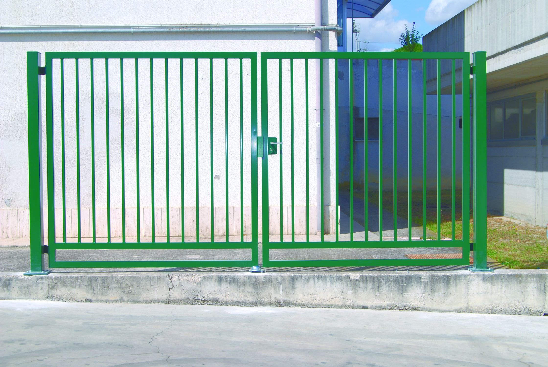 Swing gate / galvanized steel / with bars / residential - ROBUSTA ...