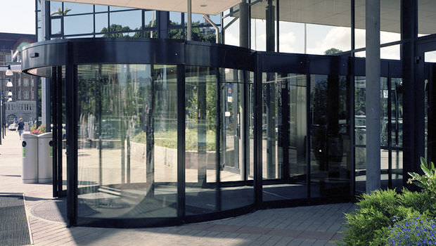 Entry Door Revolving Glass Automatic Twintour Boon Edam