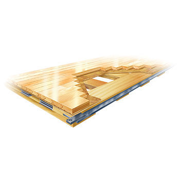 ... Maple Sports Flooring / For Indoor Use / For Multipurpose Gyms /  Portable CONNOR SPORTS QUICKLOCK