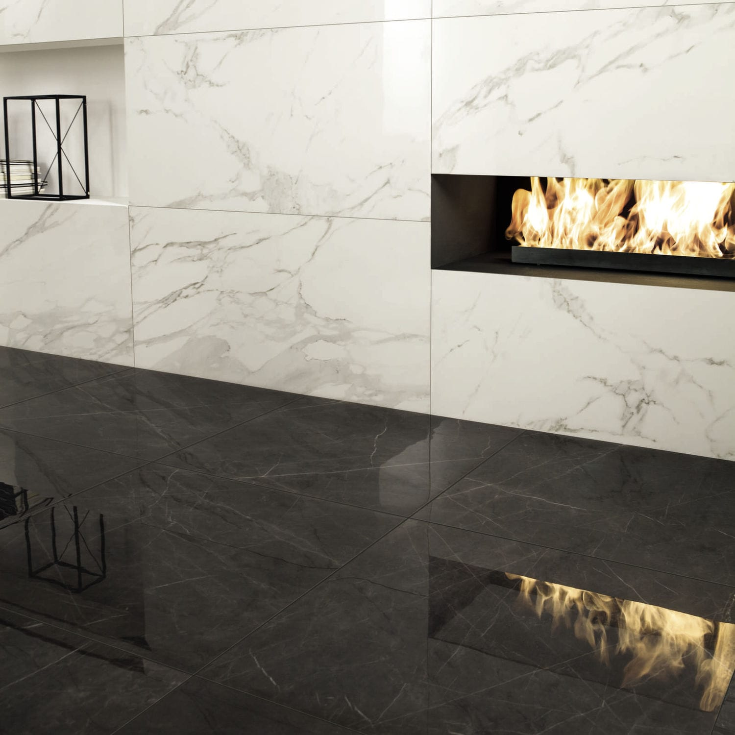 Marble Look Tile Indoor For Floors Porcelain Stoneware Anima Graphite