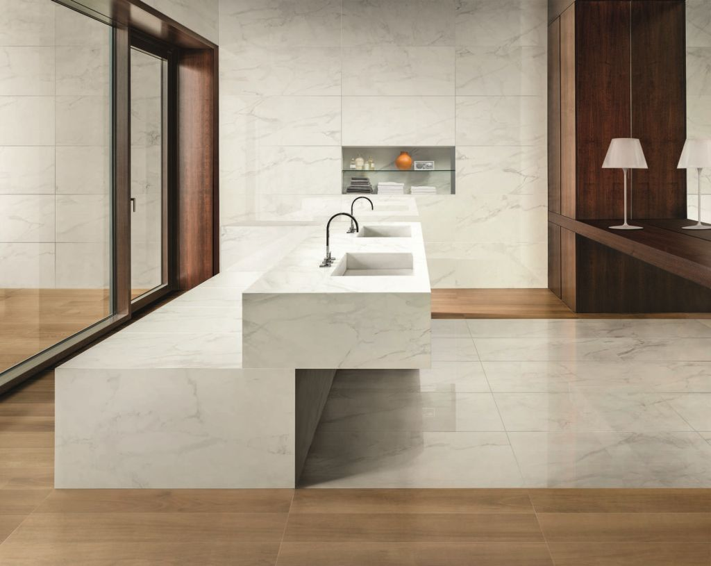 Marble look tile indoor floor for floors anima calacatta marble look tile indoor floor for floors anima calacatta oro ceramiche caesar doublecrazyfo Choice Image