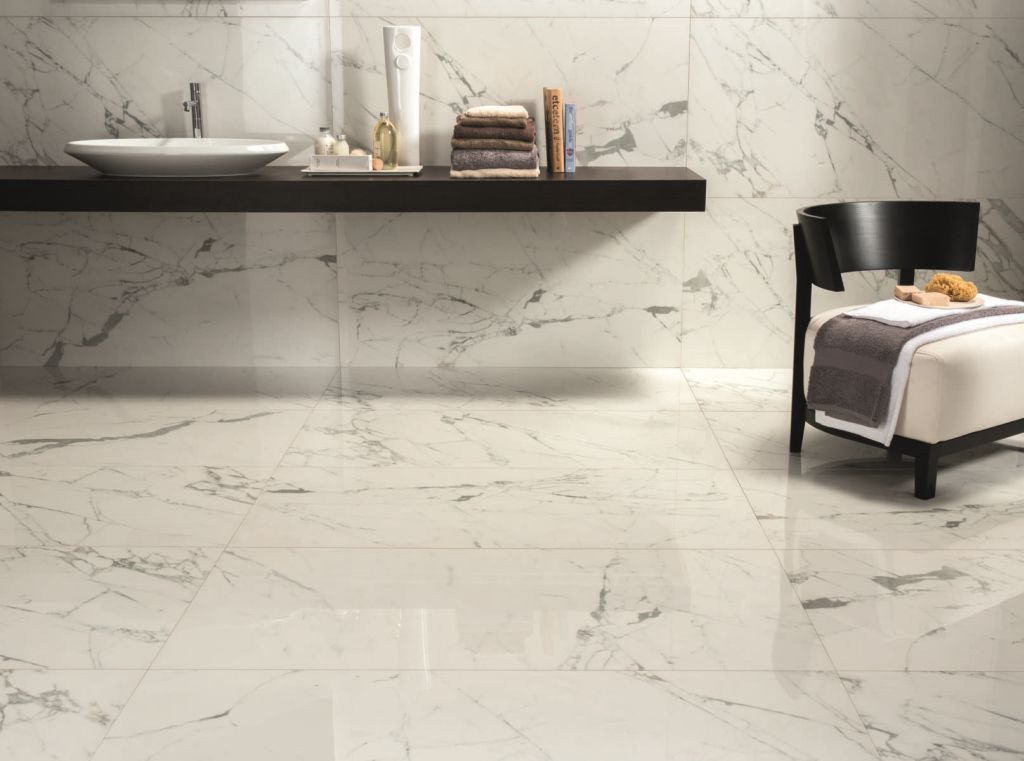 marble look tile indoor floor for floors anima calacatta oro ceramiche caesar
