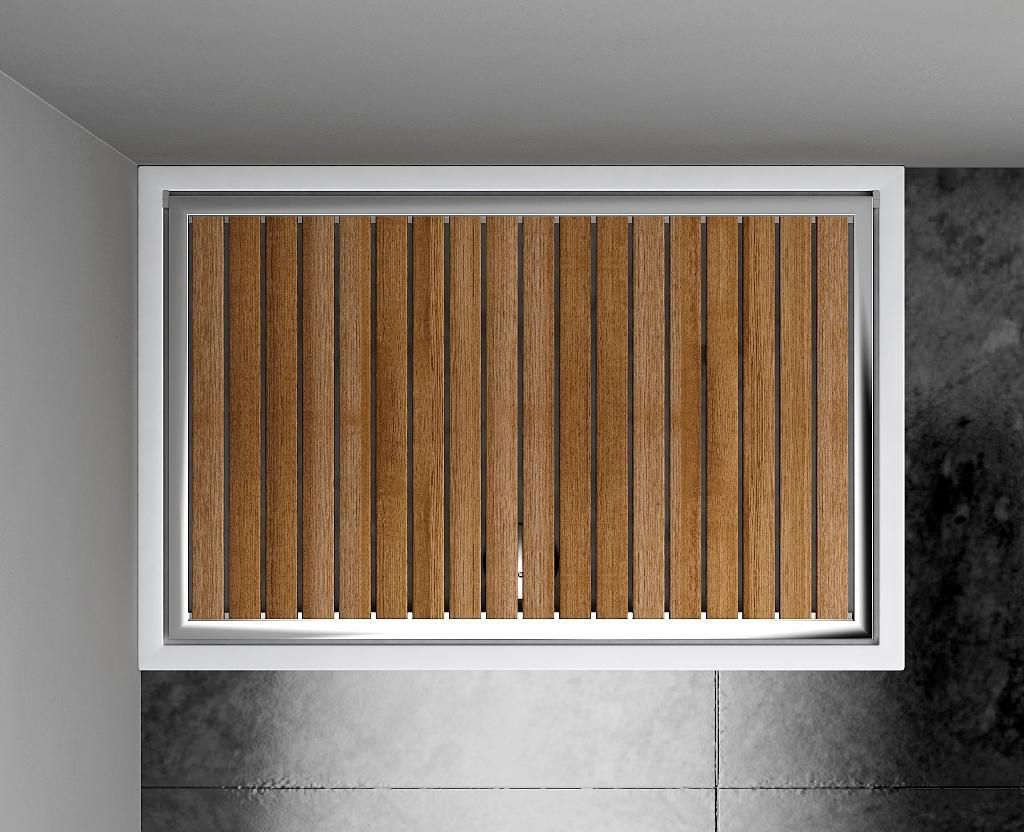 Rectangular Shower Base / Teak / Stainless Steel / ABS   PTQ LE