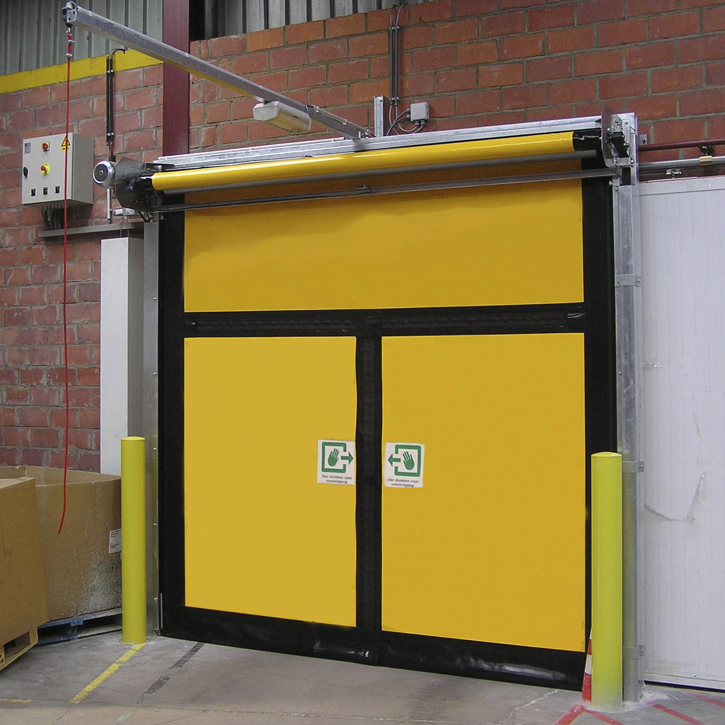 Roll up doors interior - Roll Up Industrial Door Pvc Emergency Exit Security Albany Hs9010pem