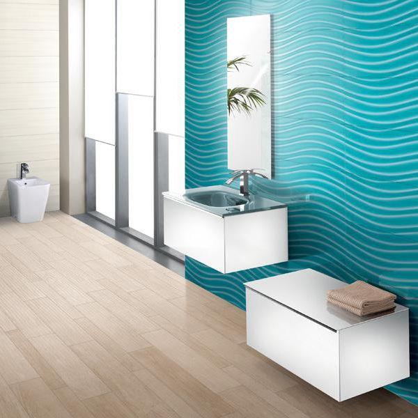 Bathroom Tile Wall Porcelain Stoneware Geometric Pattern - Bathroom tile cover up