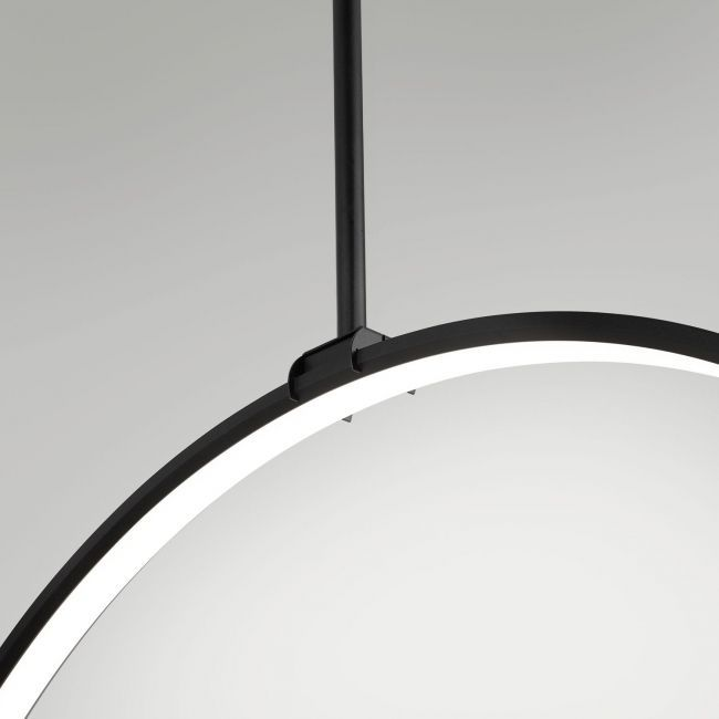 hanging light fixture / LED / round ... & Hanging light fixture / LED / round - SUPERLOOP VR SBL - DELTA LIGHT