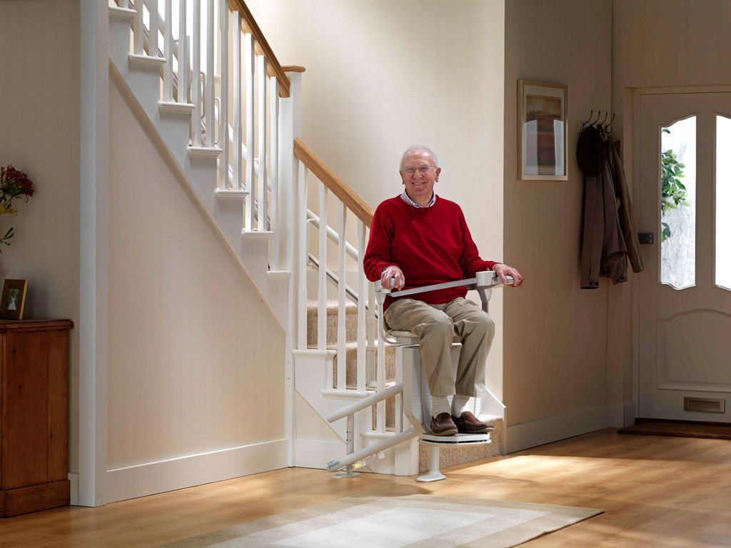 chair for stairs. Indoor Chair Stair Lift / Rotating For Stairs