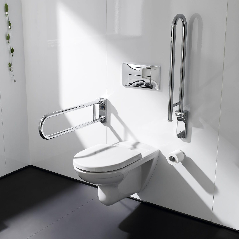 Metal grab bar / U-shaped / wall-mounted / bathroom - ACCESS - ROCA