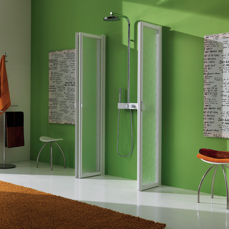 Box Doccia Samo Flex.Folding Shower Screen Glass Flex B3532 Samo