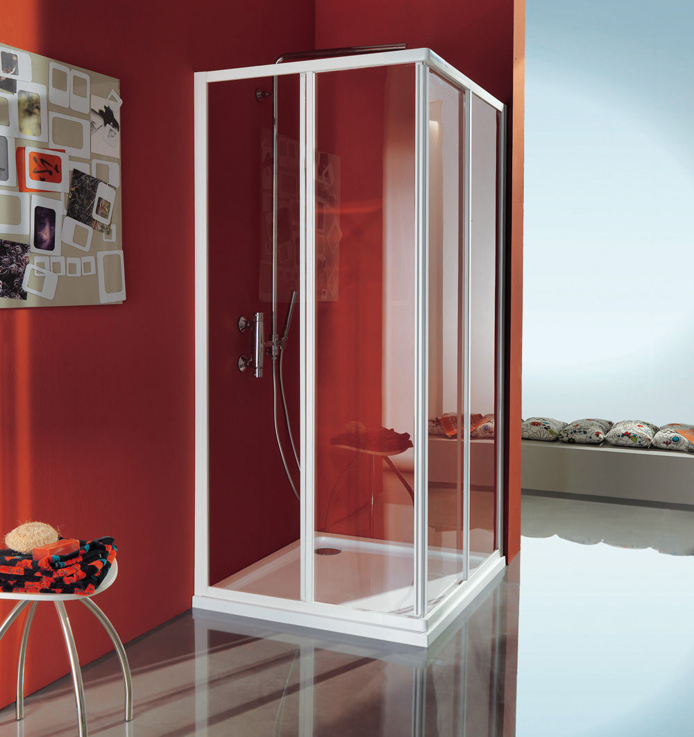Box Doccia Samo Flex.Sliding Shower Screen Corner Glass Ciao B2601 Samo