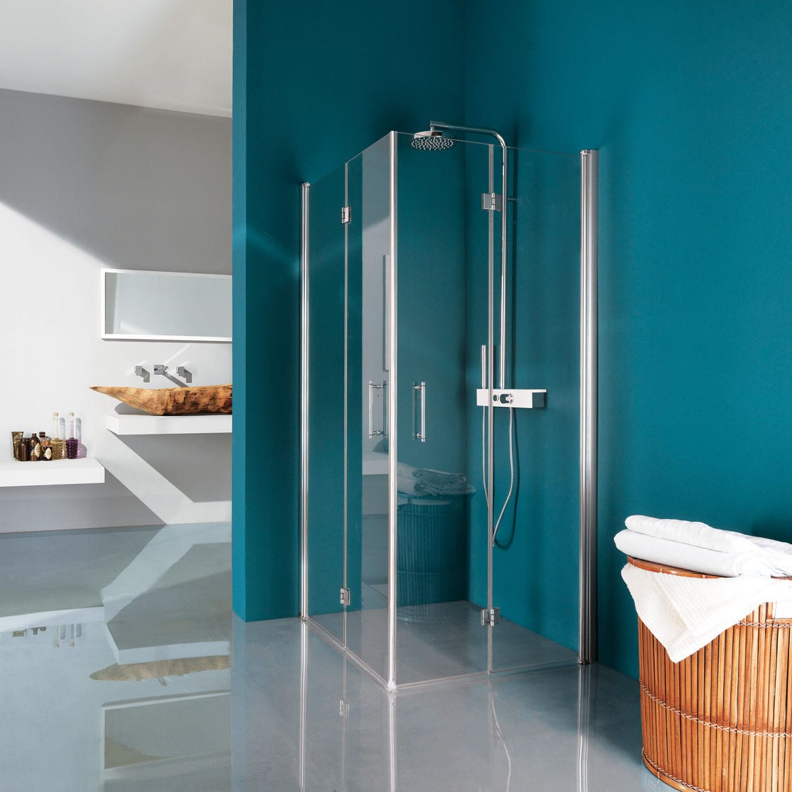 Folding shower screen / corner / glass - POLARIS : B9520 - SAMO