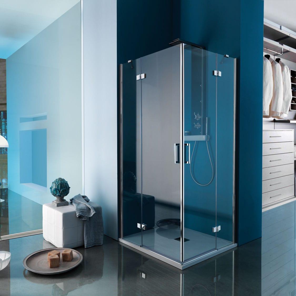 Swing shower screen / corner - GRAND POLARIS: B3705 - SAMO