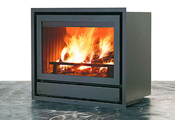 good contemporary wood fireplace insert #4: Wood-burning fireplace insert - LUCE