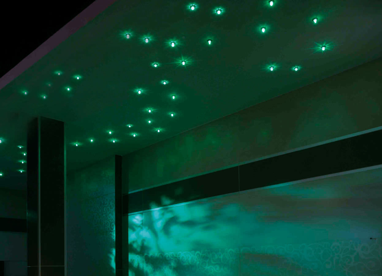Contemporary ceiling light / crystal / LED / sauna - RUBEN SKY - TYLO
