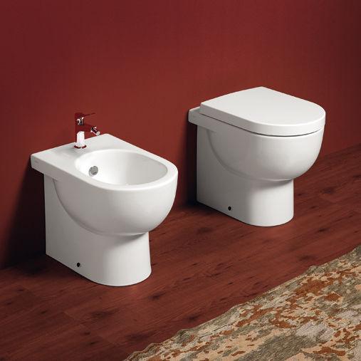 Outstanding Free Standing Toilet Ceramic E Line El01 Simas Acqua Creativecarmelina Interior Chair Design Creativecarmelinacom