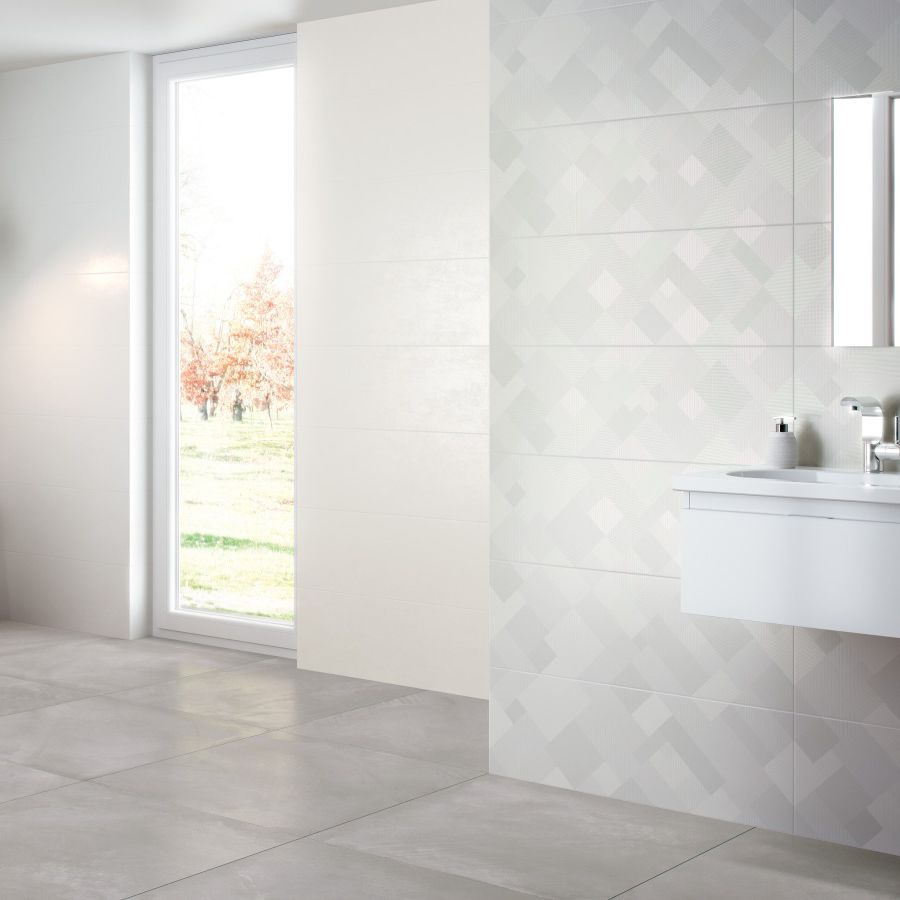 Bathroom tile / wall / porcelain stoneware / patterned - BALTICO ...