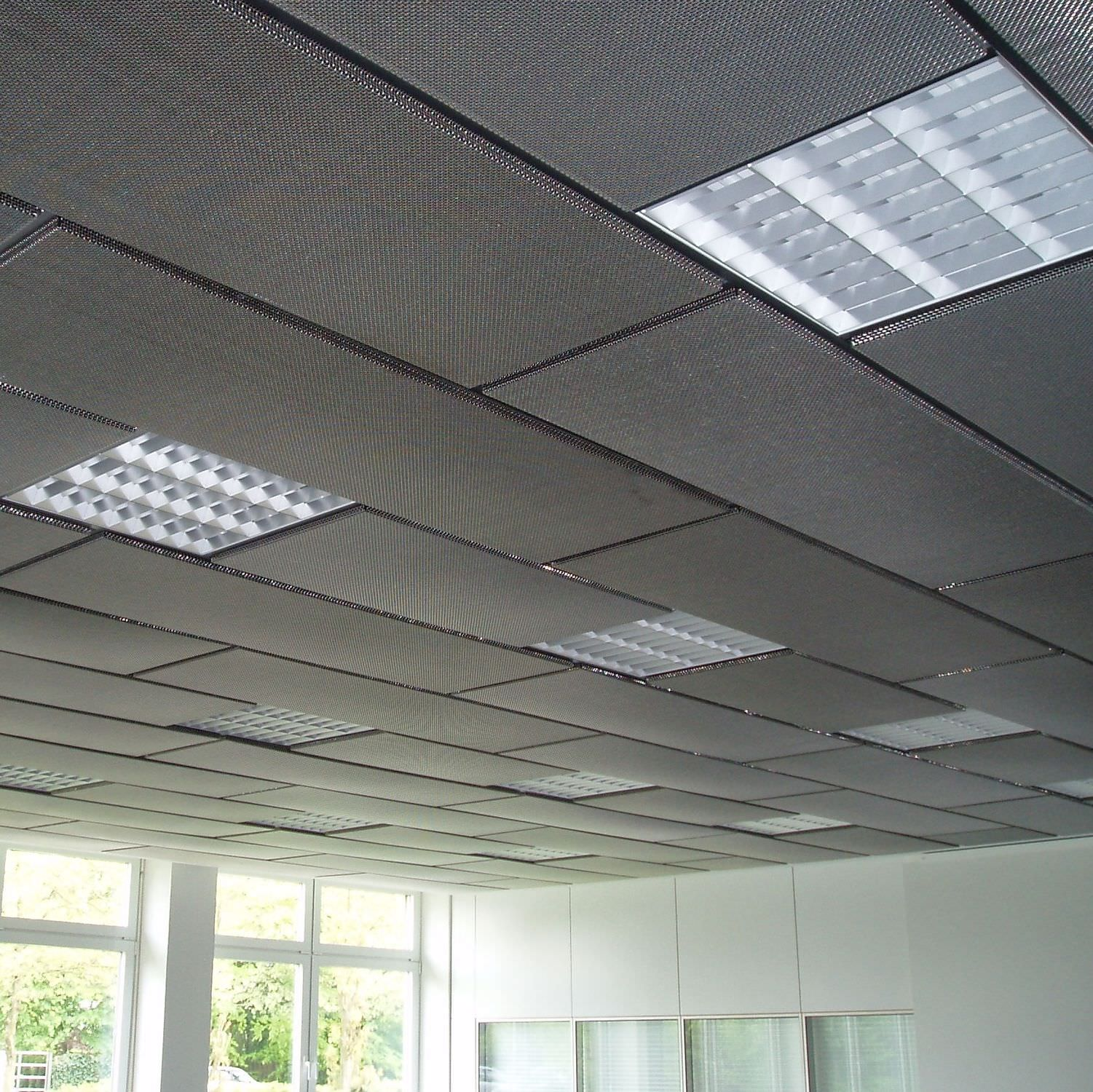 Metal suspended ceiling / panel / acoustic - DOKA-MONO 1601 - HAVER ...