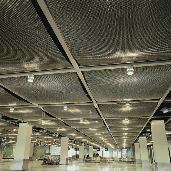 Wire mesh suspended ceiling / panel / wire - DOKAWELL-MONO 8965 ...