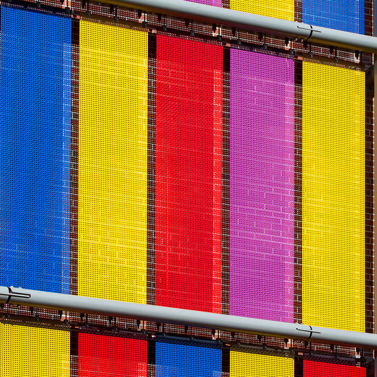 Metal cladding / stainless steel / colored / mesh - Architectural ...