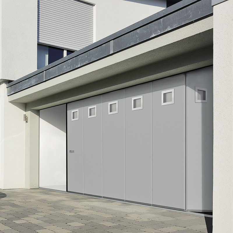 Sliding Sectional Garage Door / Galvanized Steel / Automatic / Insulated    HST 42