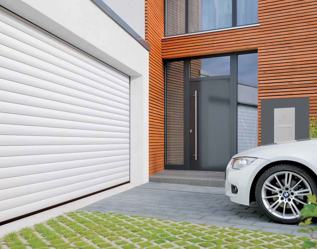 designs that one cars is roll way of get it rollup will you variety fully with the chromadek can installed materials and doors blend convenient your comes garage up door in automated a securing