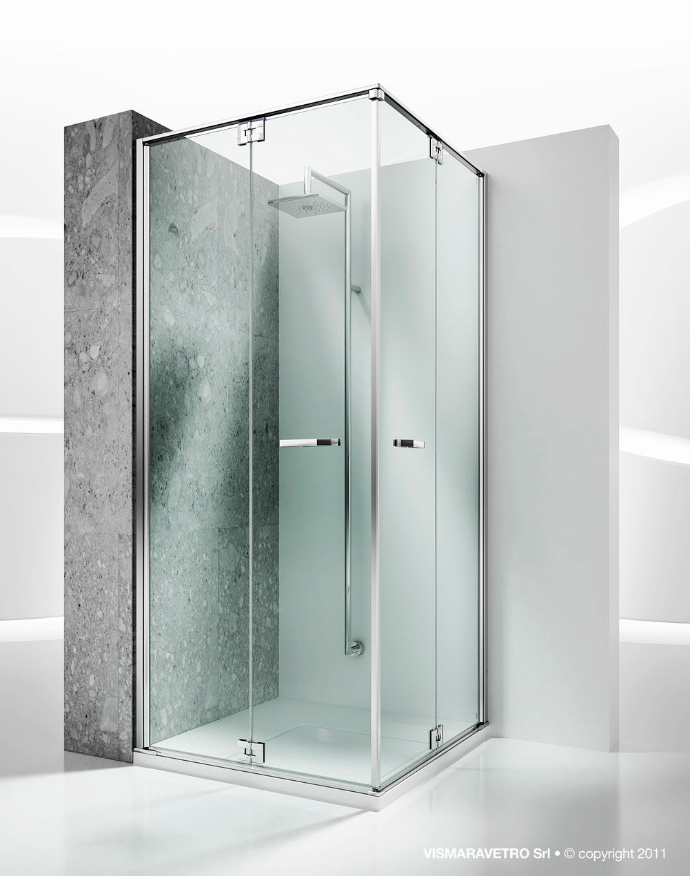 Glass shower cubicle / corner / with folding door - REPLAY: RA+RA ...