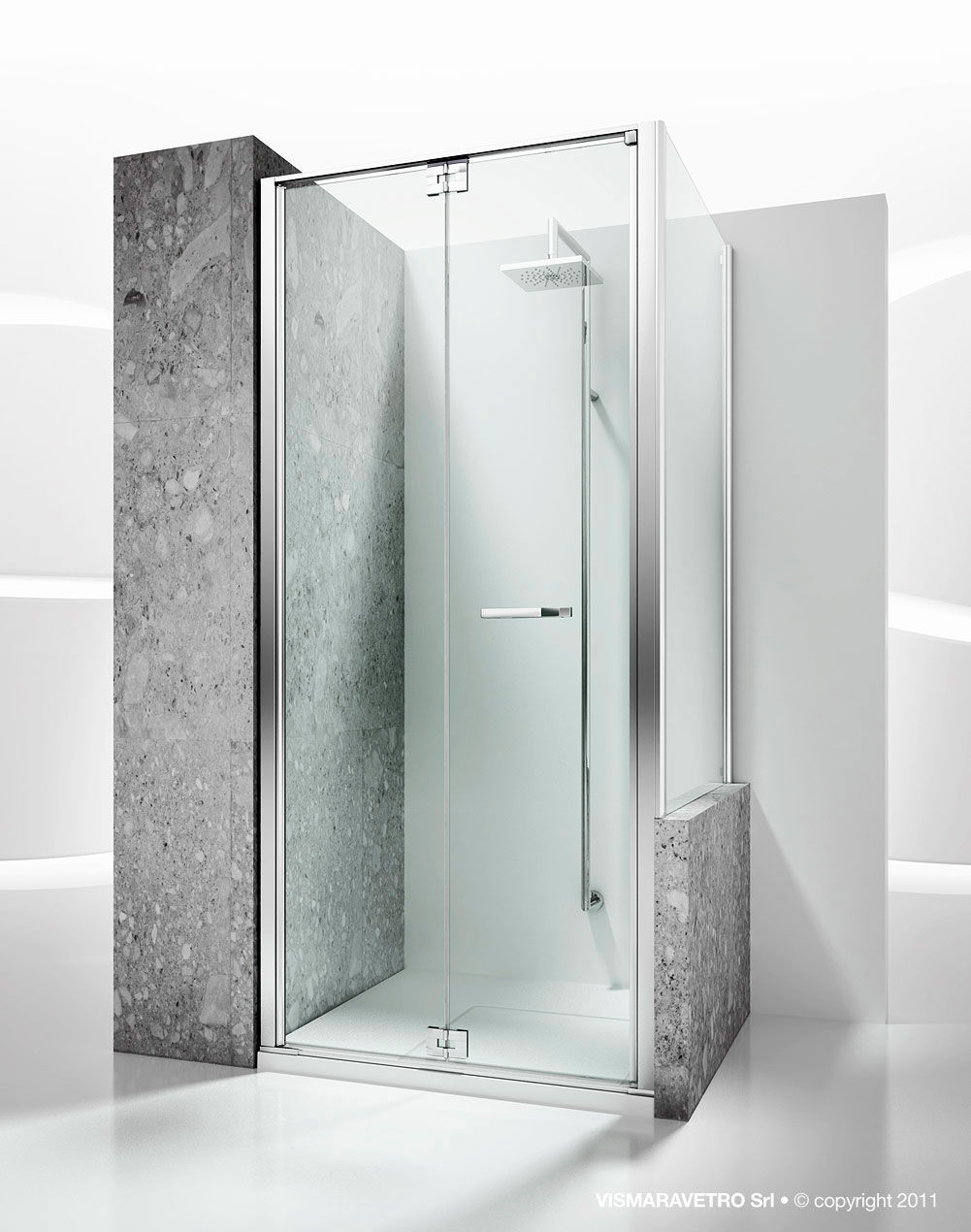 Folding shower screen / corner - REPLAY: RN+RV - VISMARAVETRO