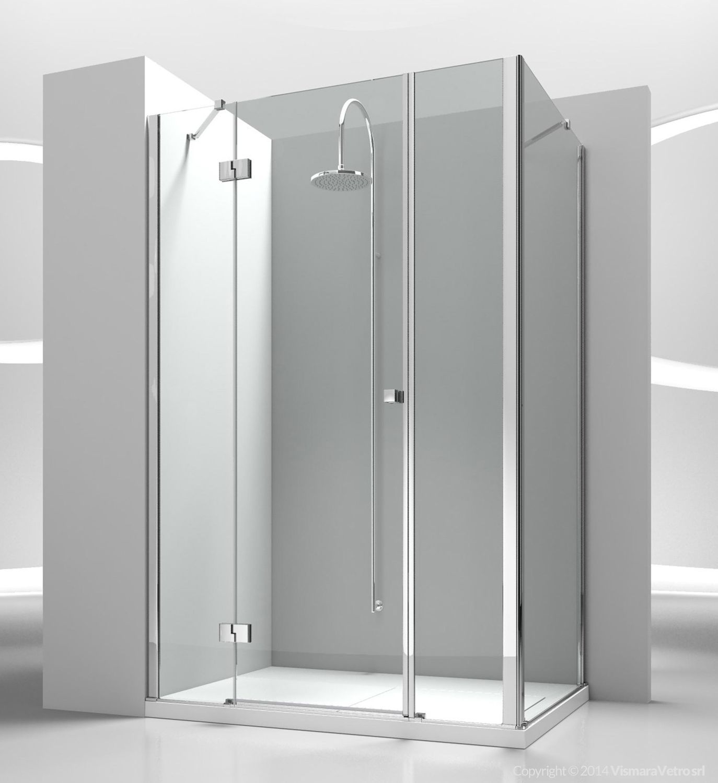 Glass shower cubicle / corner / with pivot door - SINTESI: SM+SG ...