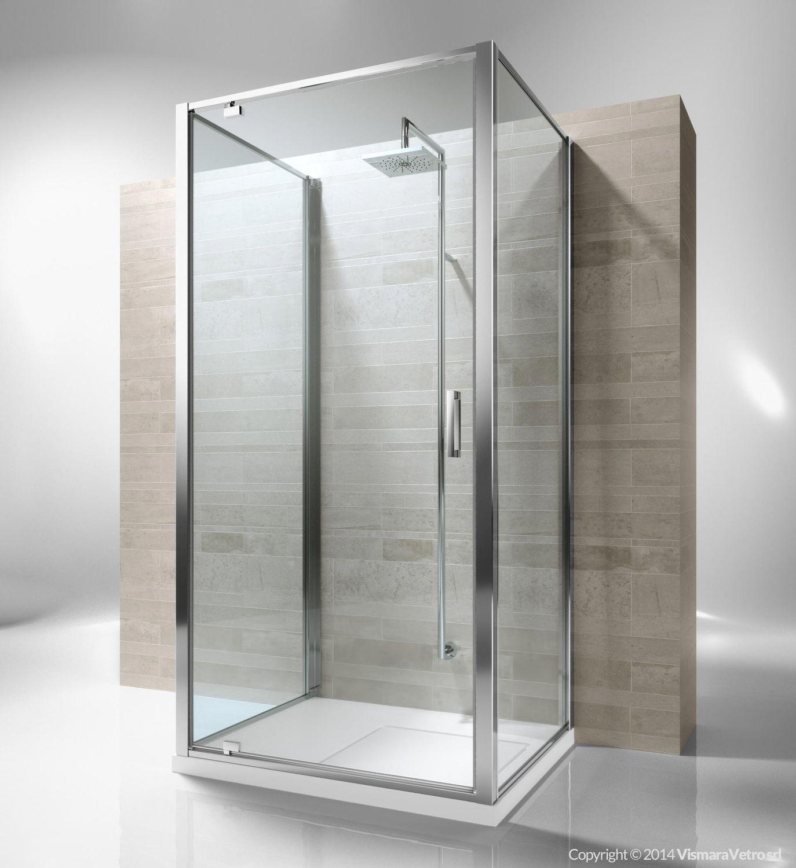 Glass shower cubicle / rectangular / with pivot door - JUNIOR: GF+GA ...