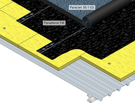 ... Bituminous Waterproofing Membrane / For Roofs / Double Layer PARADIENE  FM Siplast ...