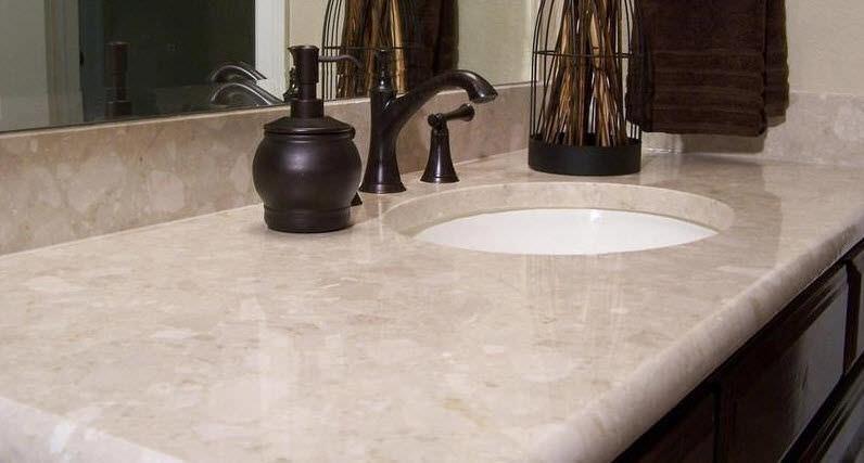 marble countertop kitchen botticino