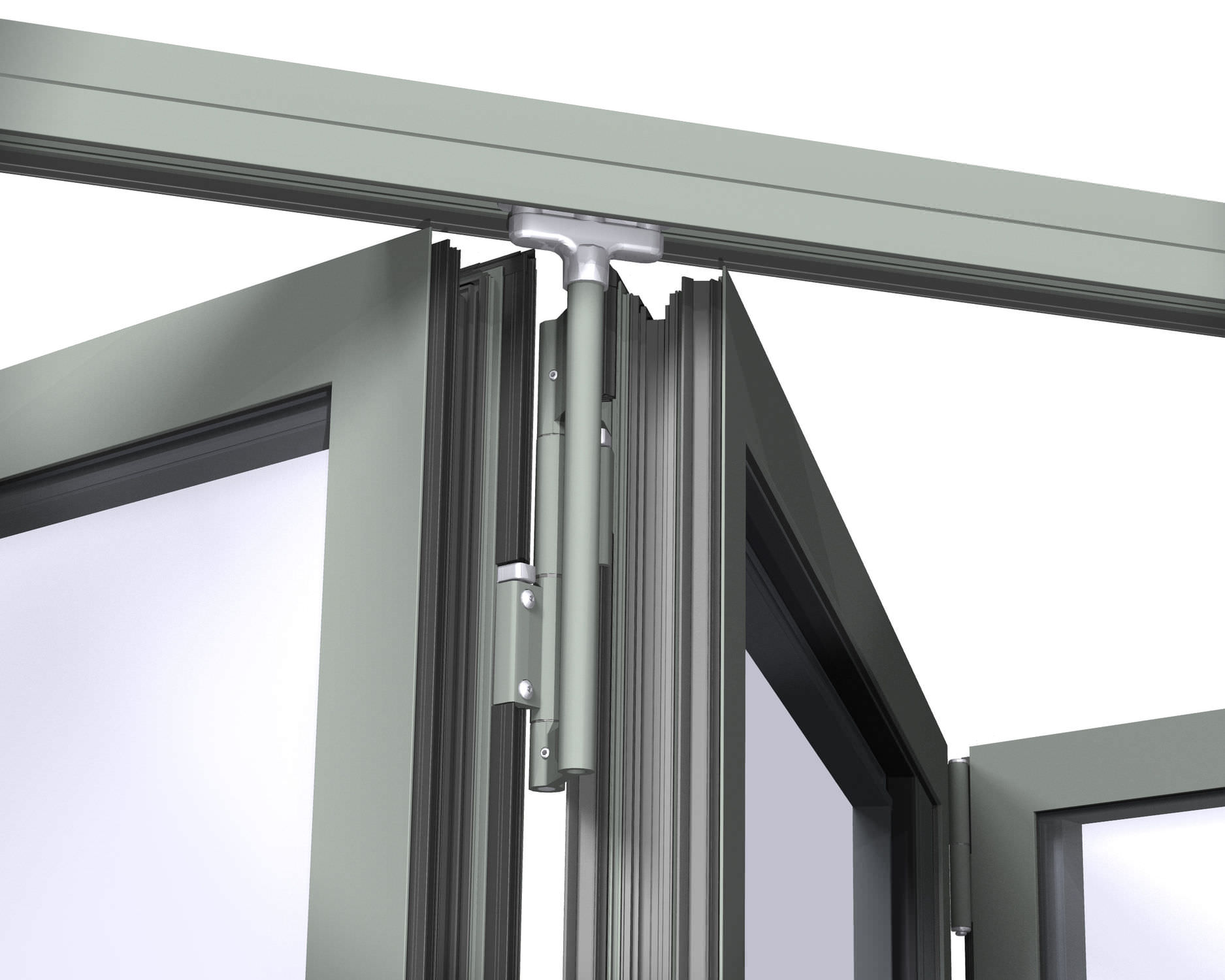 High Quality Glass Sliding Door System / Metal   CF 77
