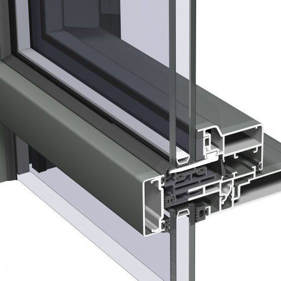 Structural glass curtain wall / aluminum and glass - CW 50 ...