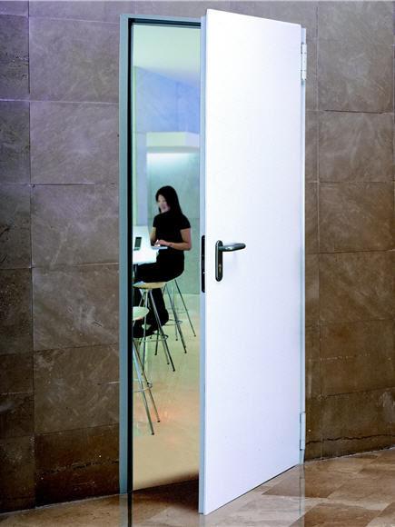 Indoor door / swing / galvanized steel / fire-rated - REVER MULTIPURPOSE & Indoor door / swing / galvanized steel / fire-rated - REVER ...