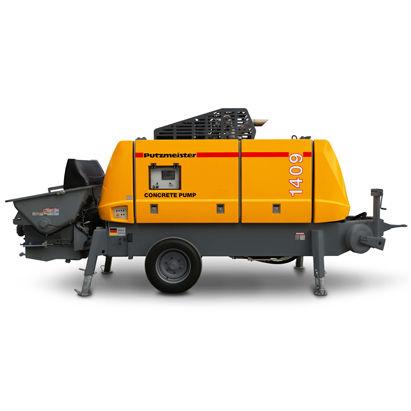 Trailer-mounted concrete pump - BSA 1409 D4 - PUTZMEISTER