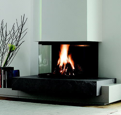 Contemporary Fireplace Surround Marble 3 Sided Brighton
