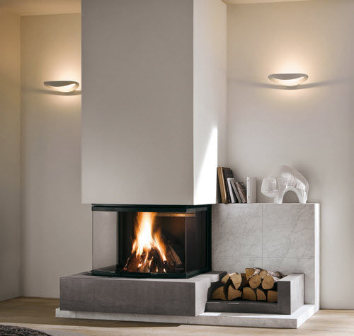Contemporary Fireplace Surround Marble 3 Sided San Go